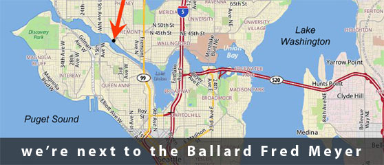 Location of Ferguson Terminal | we are next to the Ballard Fred Meyer